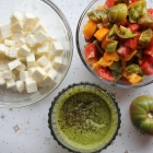 Irresistible Chopped Caprese(ish) Salad, made with heirloom tomatoes