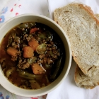 Easy loaded hamburger soup and what I'd take to the moon with me