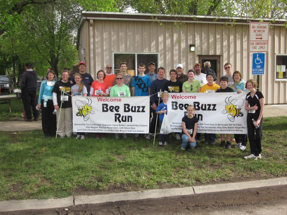 Last year most of my extended family joined us in participating in the Bee Buzz.