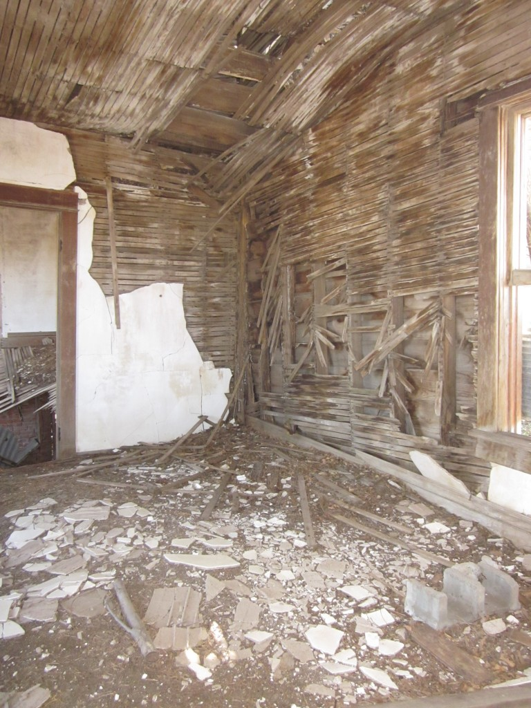 It's intriguing to look inside this old house and wonder about what kind of a life there was in here once.