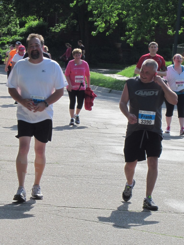 Here is my brother Mark and a friend running the Lincoln Half-Marathon.