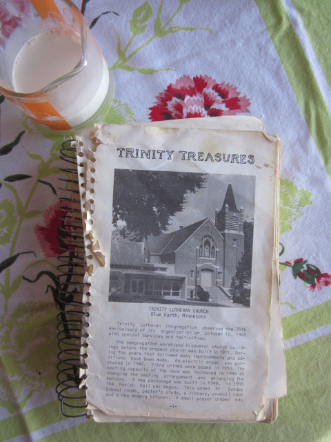 "Here's one of my favorite cookbooks: ""Trinity Treasures"" sans the cover!"