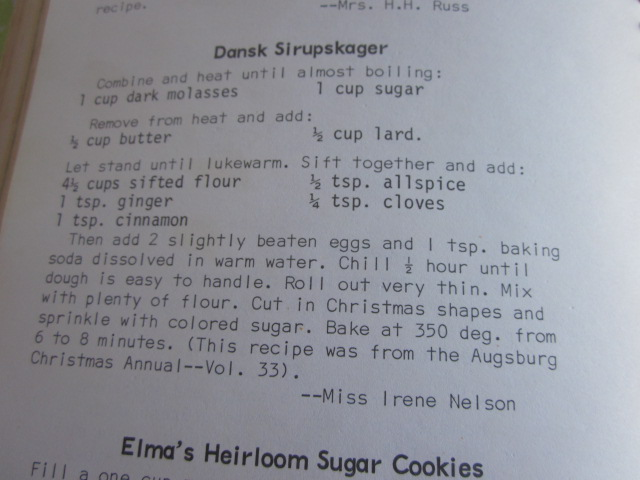 I enjoy reading through these old recipes, which were the favorites of all these housewives at the time.