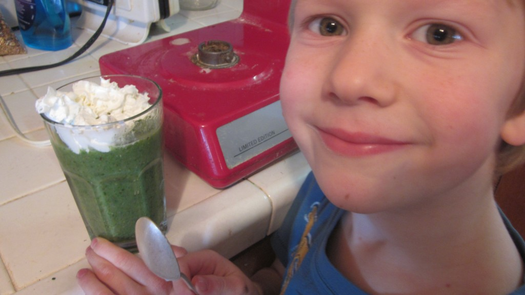 Pretty easy way to get a big smile around here--make a green smoothie!  Oh, wait--that could be another question.