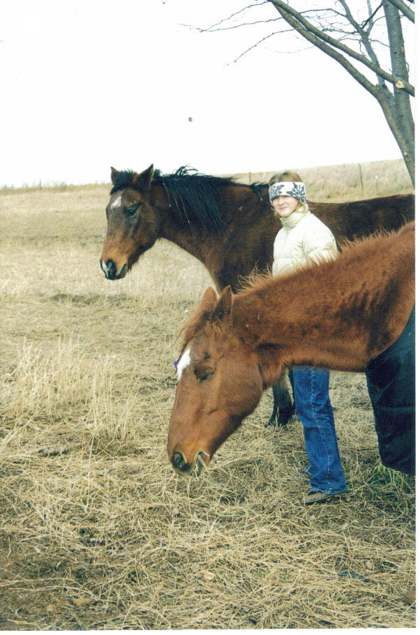 Here's Bethie with Romeo (in back) and her beloved Lacey.