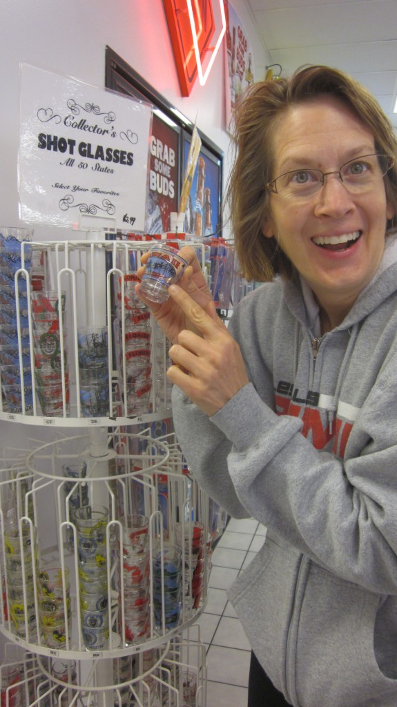 Anne was thrilled to find a place where she could buy shot glasses from all