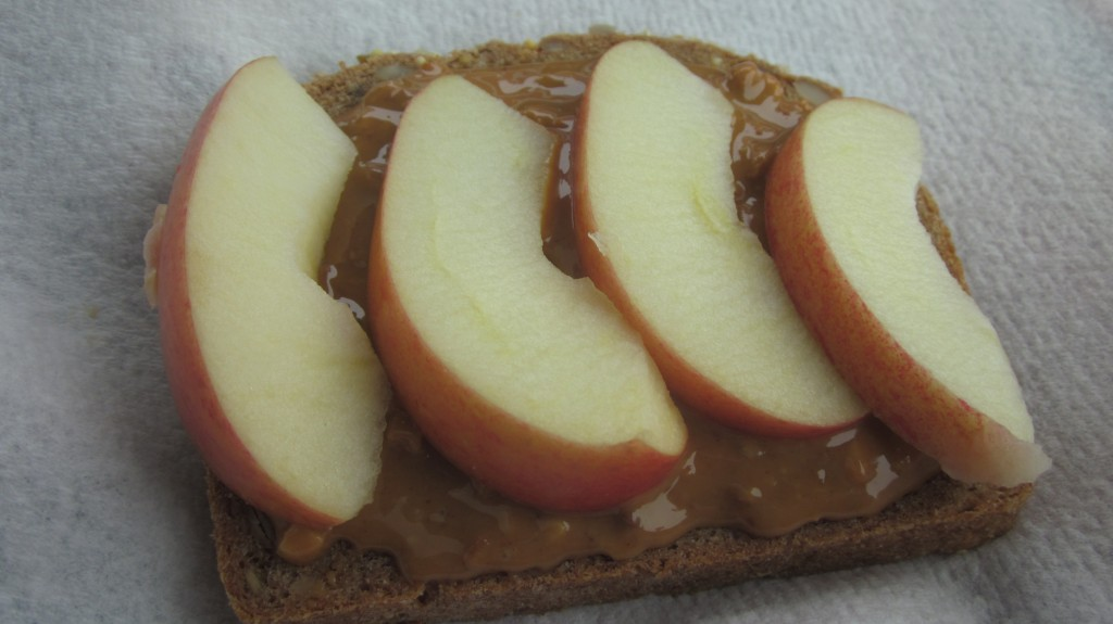 We ate so healthy on the way down.  This bread with peanut butter and apples was so tasty.