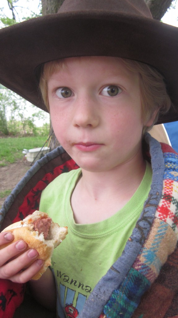 Besides, when but on your happy birthday camping trip can you have a hot dog for breakfast?