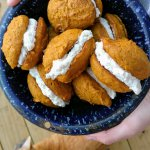 Pumpkin Whoopie Pies with creamy ginger filling recipe!