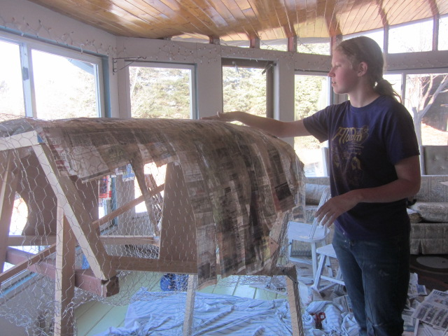 What?? Don't you have a couple of paper-mache cows being built in your house?