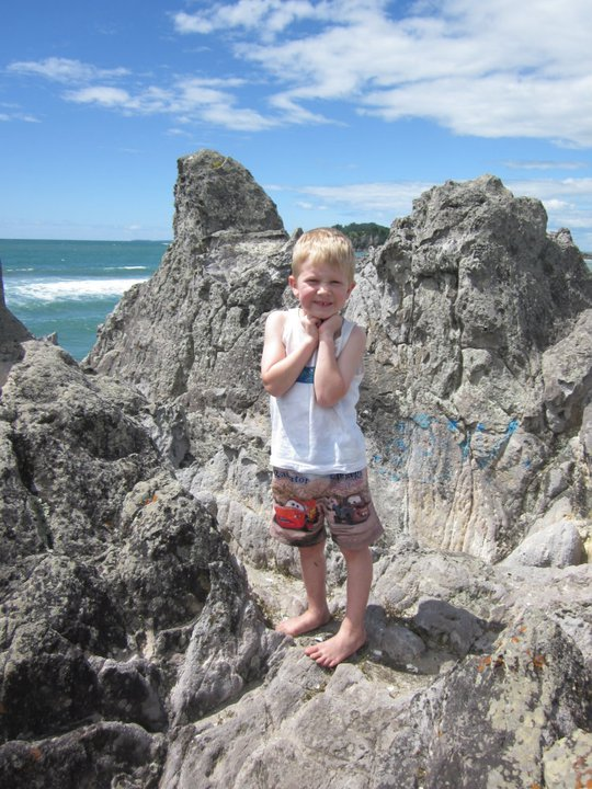 Here's little Mack when we went to New Zealand:  isn't he cute?