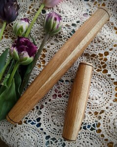pretty cherry Mommy and Me set of rolling pins
