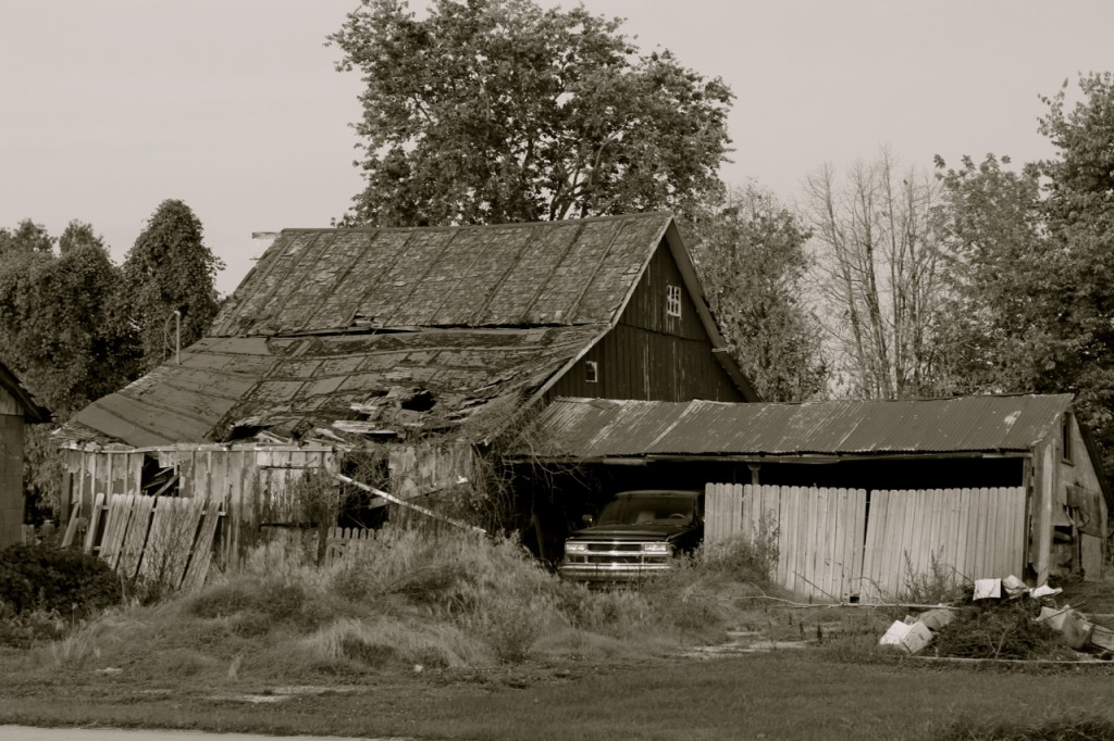 I love to look at old barns.