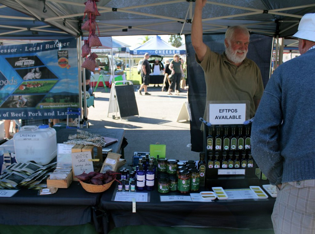 "The fellow behind the table was an olive grower, and he made his own varieties of olive oils. He was loudly proclaiming that he took a tablespoon of olive oil, and a tablespoon of apple cider, every morning for his arthritis. I was all ears. ""Does it help?"""