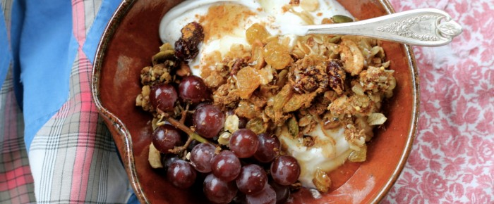 Granola with Greek Yogurt and Fresh Fruit: 5 Minute Breakfast Mission