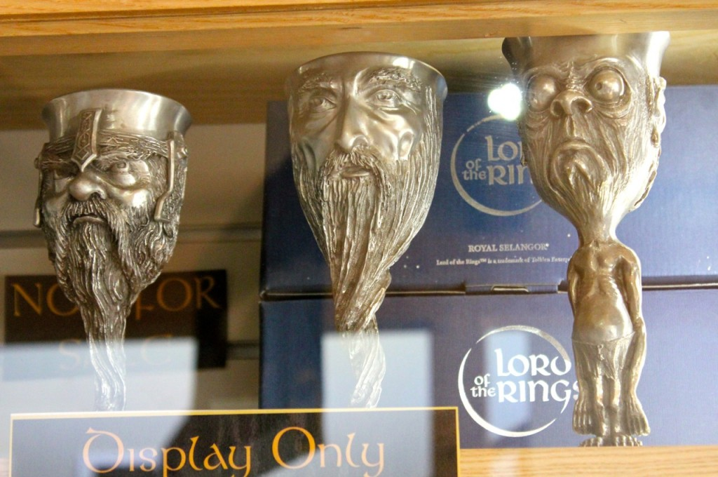 These wonderful goblets were on display in the gift shop.