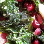 Massaged Kale and Pomegranate Salad
