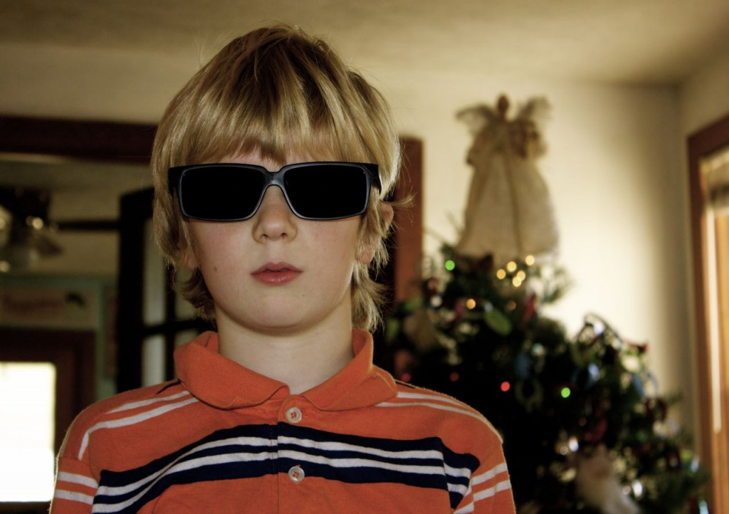This guy got new spy glasses for Christmas.