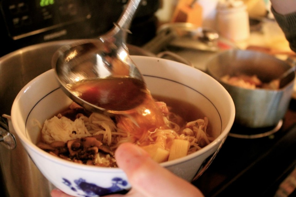 An excellent broth, of course, is key to wonderful homemade ramen.