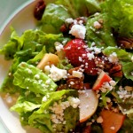 Spring lettuce salad with honey dressing, and a winner!