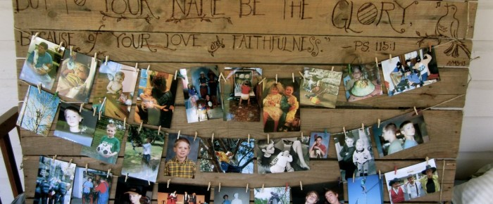 Make a rustic memory board for your graduate!