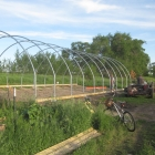 Hoophouse Building, Phase 2: we face a few challenges *sweating*