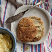 Buttermilk Biscuits using cultured buttermilk: