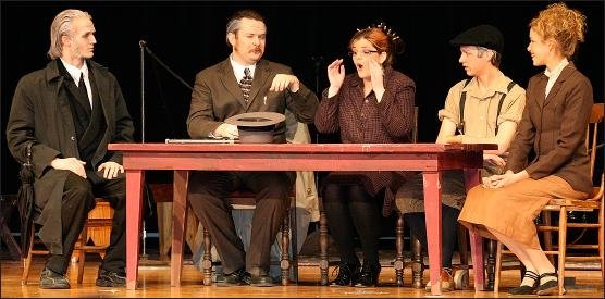 Here are Andrew Miller, Josh Kessler, Keira Landreth,   and Samantha Rohda performing in Wynn Fairly:  Champeen Wrassler