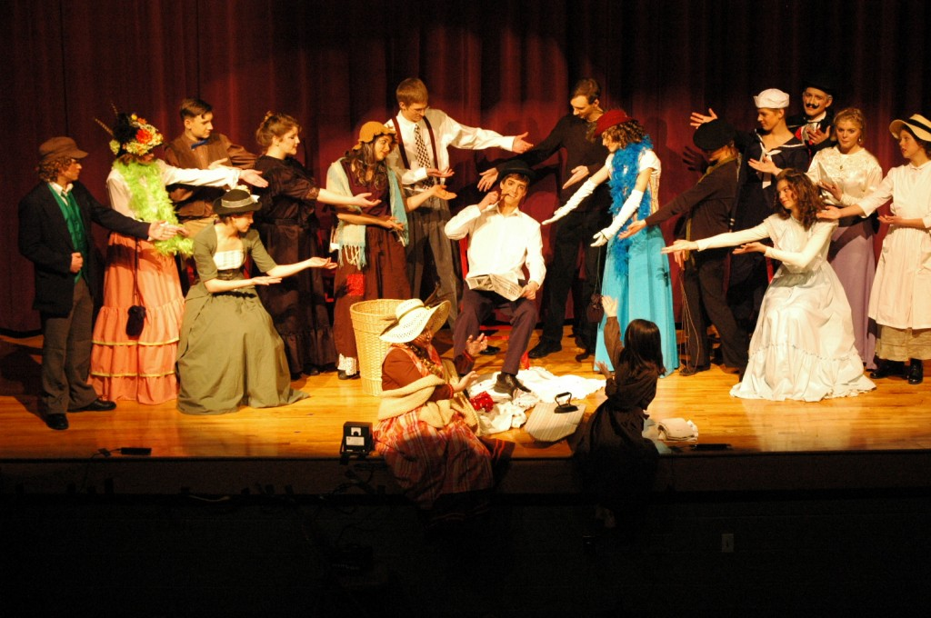 Here's our cast from our last play, Life on the Bowery, performing a musical number.