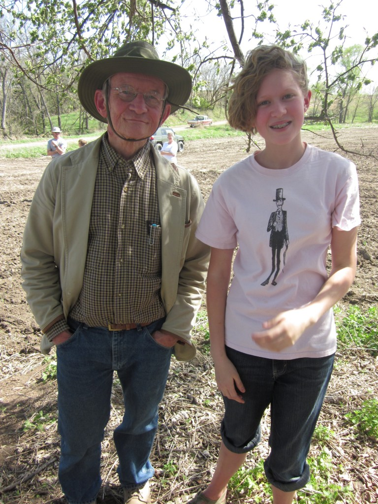 My new BFF, Ted Kooser, and my daughter Amalia.