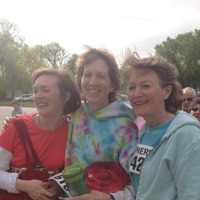 Here's Mollie, Anne and me after last year's Bee Buzz Run.  Yes, it was breezy.