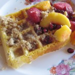 A secret (cornmeal) ingredient to make crispy (cornmeal) waffles! *oops!*
