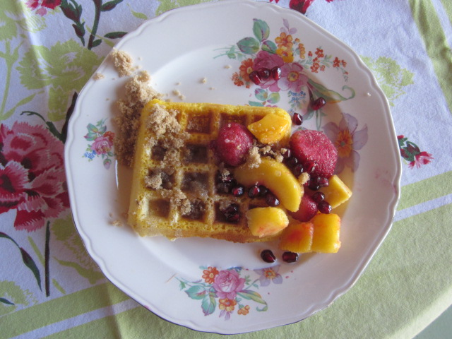You can probably tell from this photo how tasty these waffles are!