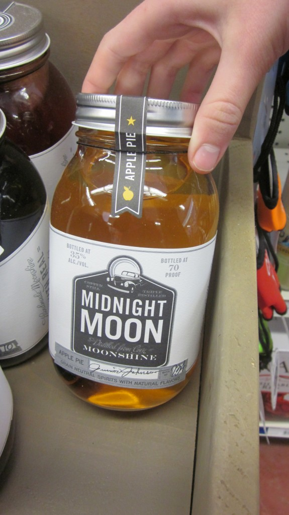 Can you believe that you can buy this stuff at a convenience store?  Apple pie moonshine!