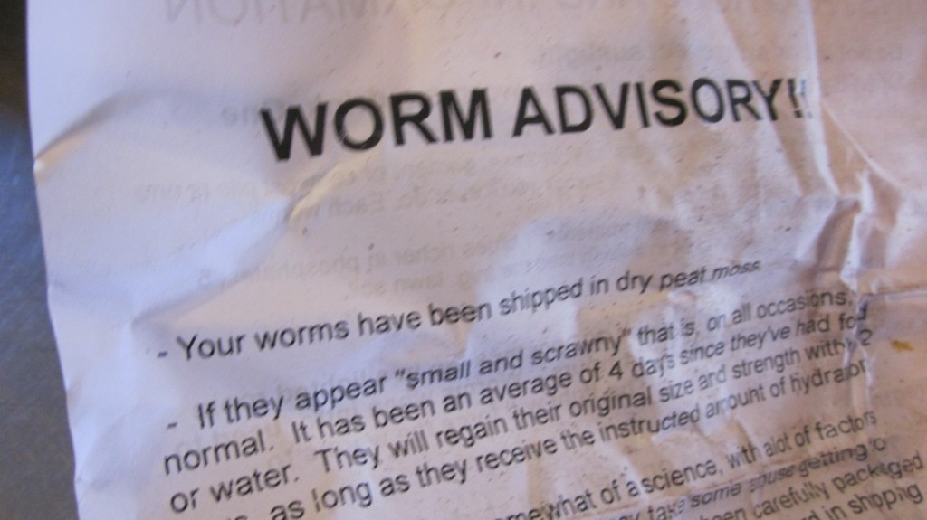 There were a few instructions to read, included with the shipment of worms.