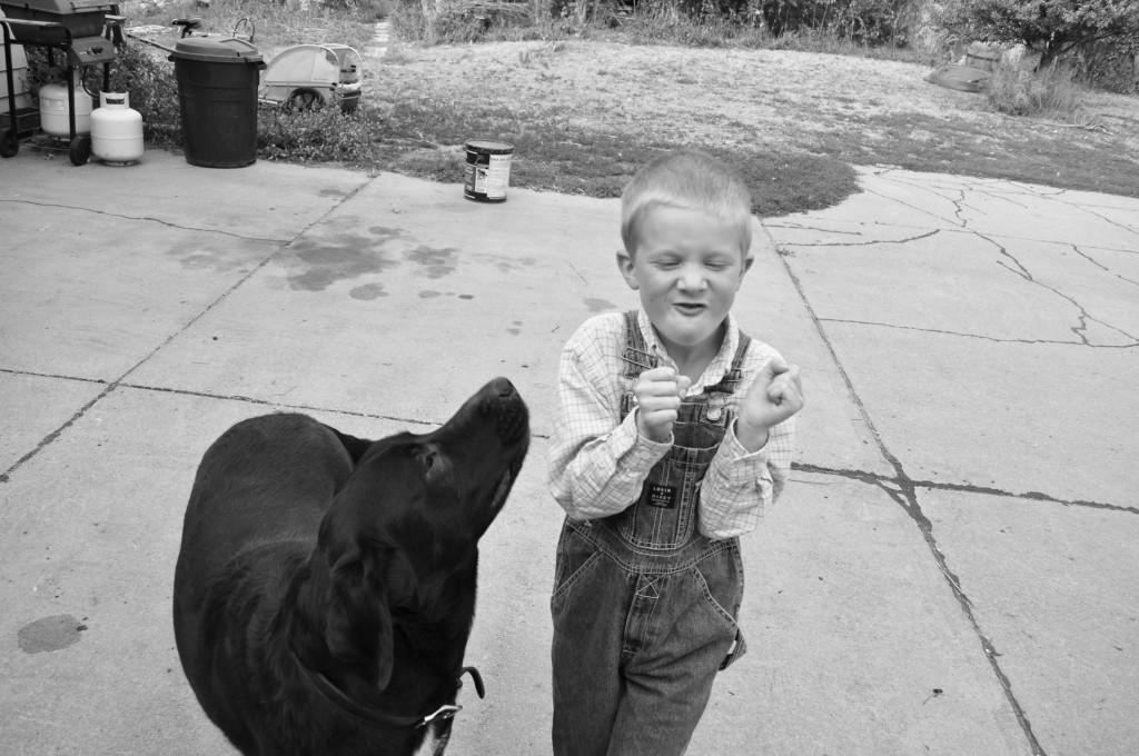 Ollie loves his little Mack.