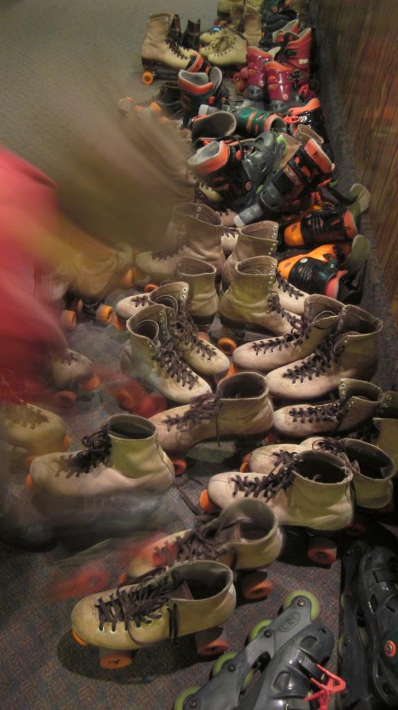 All . . . those . . . skates . . .