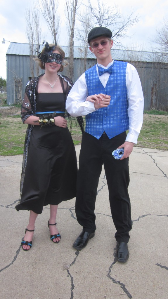 Here are Amalia and Timothy--don't they clean up nice, for country kids?