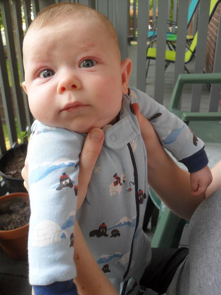 Here's my darling little grandson, Emmett Adorableness Miller.