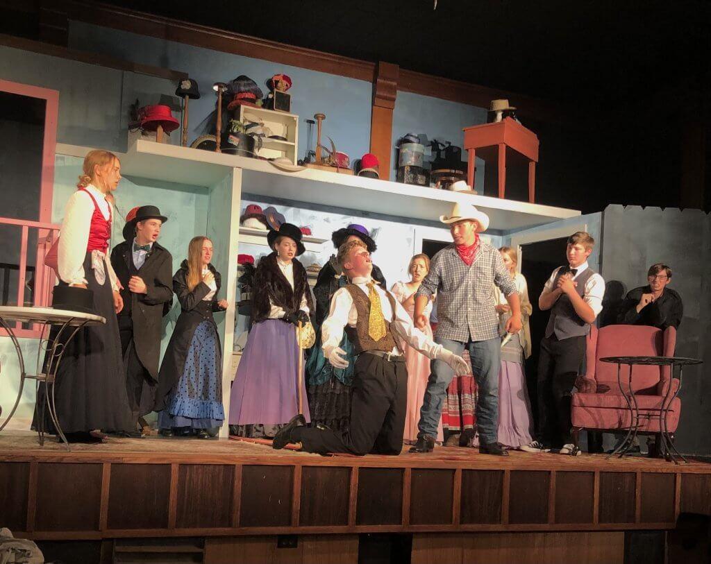 performers onstage melodrama