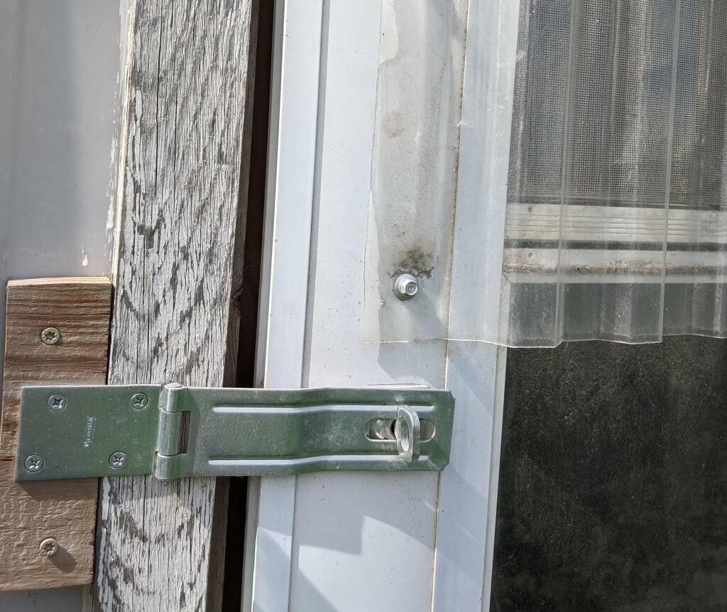 latch on coop door