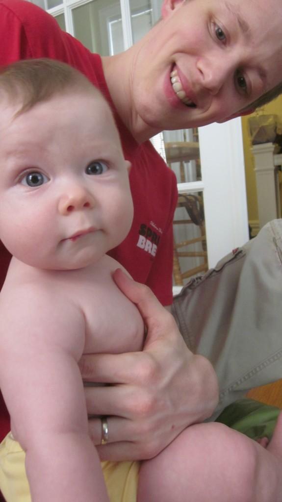 Here's my boy Matthew with his little boy-o Emmett.