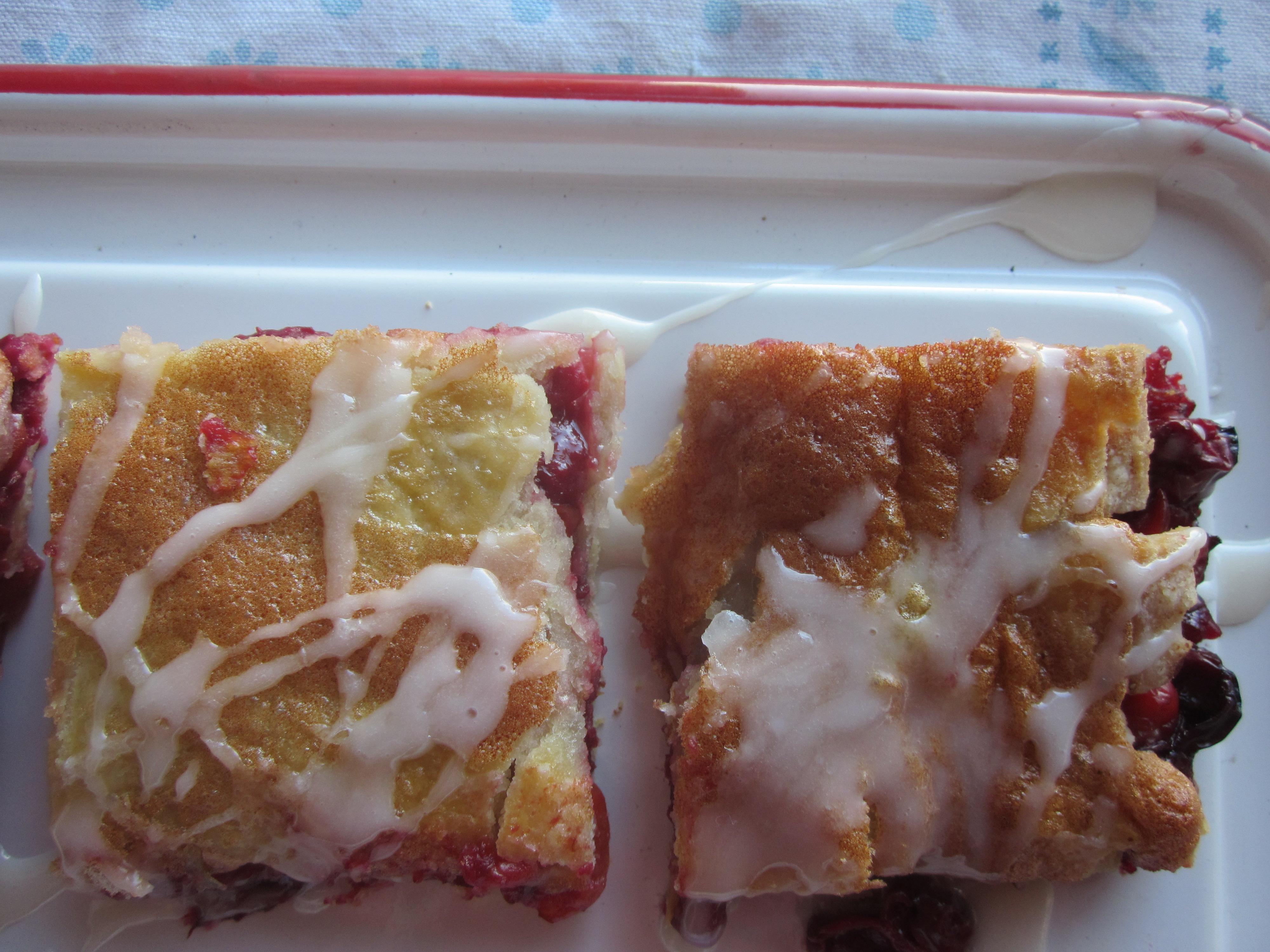 Sour Cherry Pie Squares: a celebratory recipe