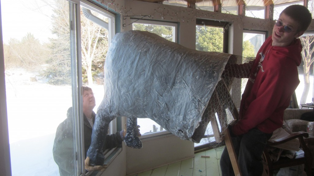 Problem Solving Issue: how do you get the rear end of the horse out of the house when it's too wide for all the doors? Simple--go out the window!