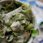 Creamy caper and herby salad dressing: it has staying power