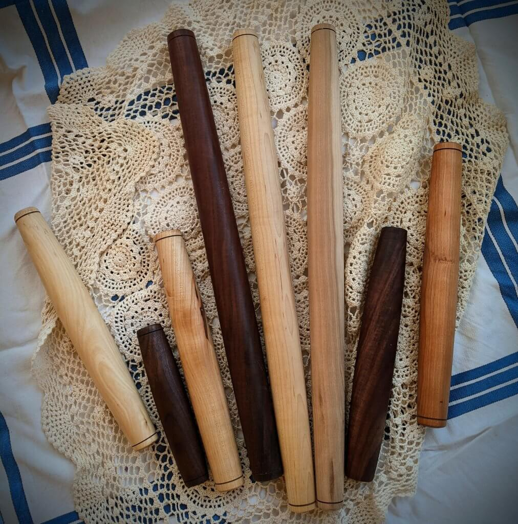 various French rolling pins