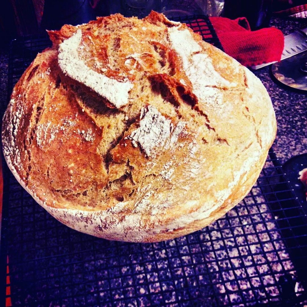 My first loaf of Dutch oven Artisan Bread: isn't it a beaut??