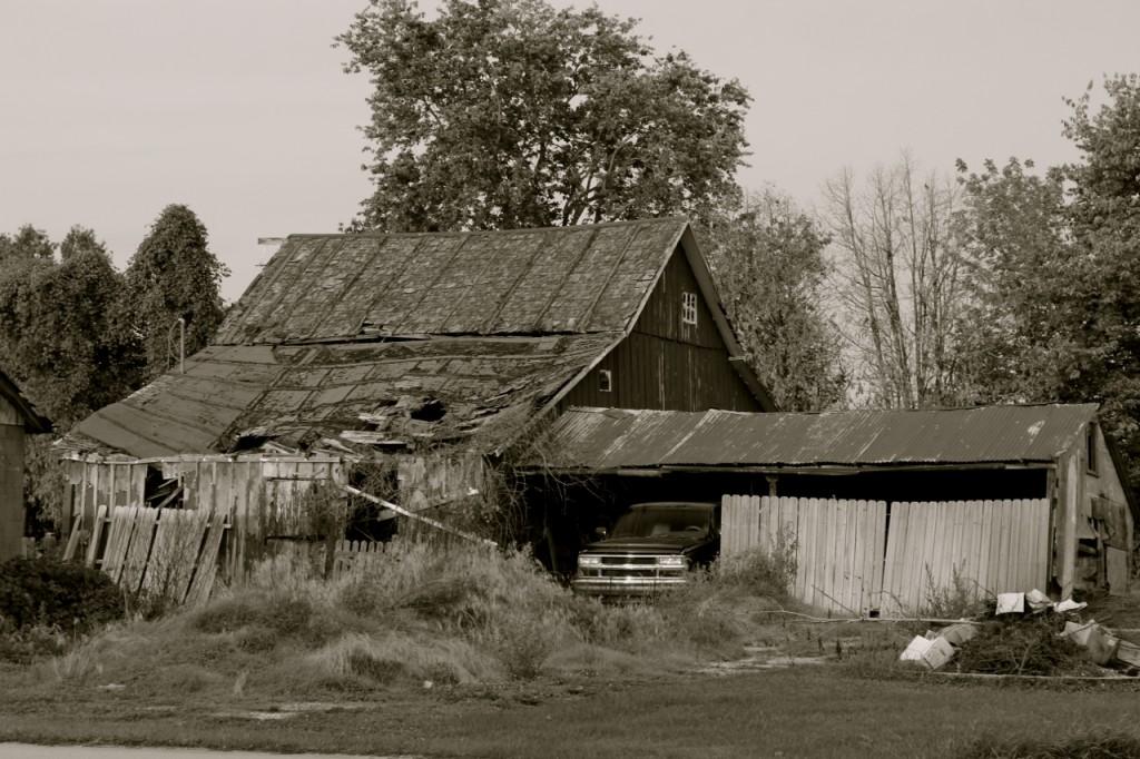 I love to look at old barns.