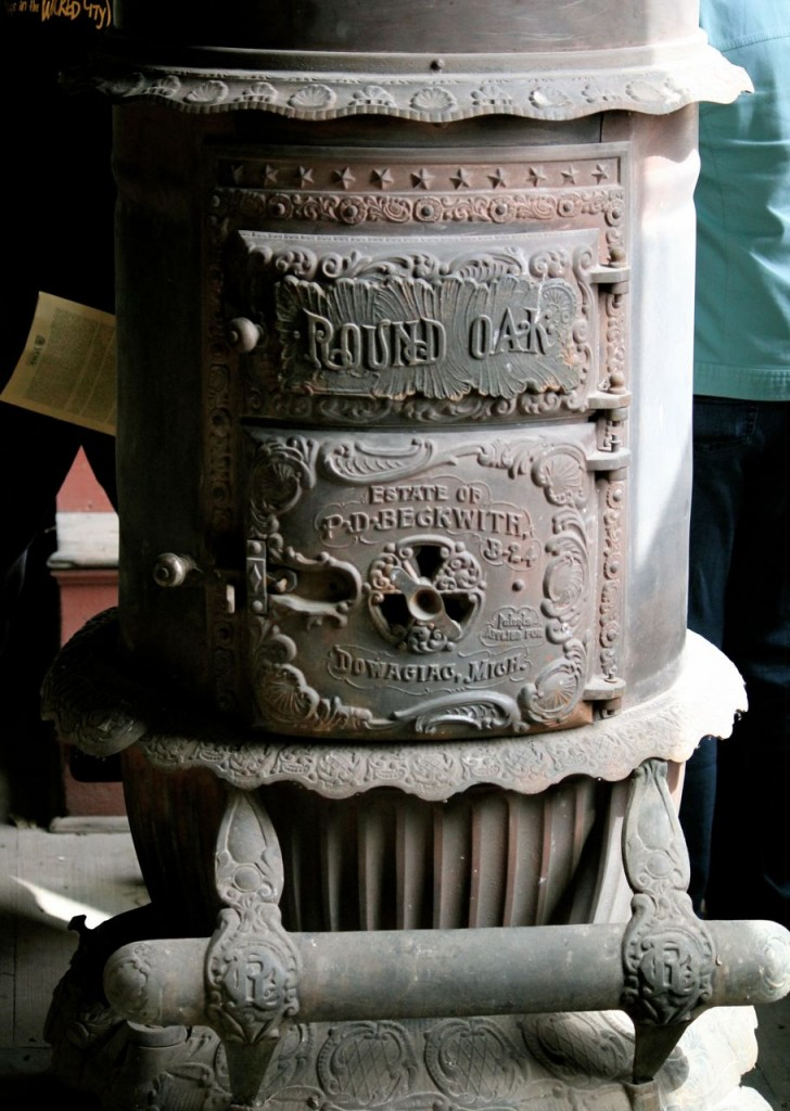 Isn't this old stove beautiful?