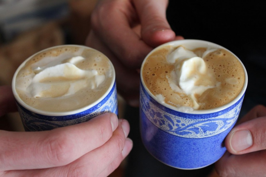 Need me a cuppa . . . or a cuppla cuppas . . . where is one of those fine young men I raised what can make such fine cups of cappucino?